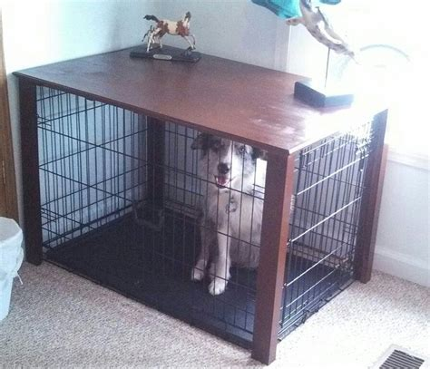 build diy  table dog crate  plans