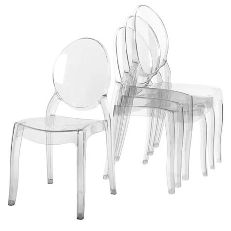 chaises transparentes pas cher lot de 4 chaises transparentes achat vente lot de 4