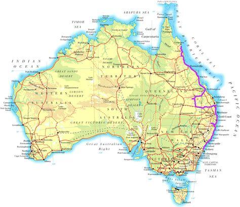 australia map east coast