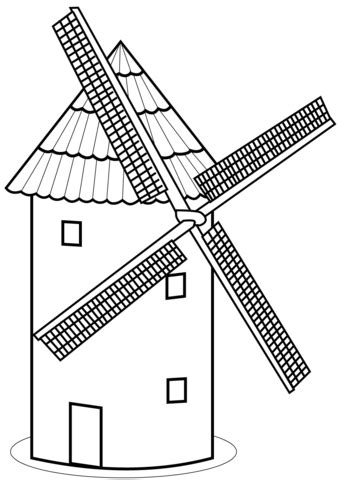 tower mill coloring page  printable coloring pages