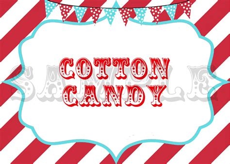 custom carnival party signs circus party signs