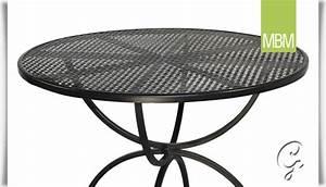 Tisch Rund 100 Cm : runder gartentisch romeo aus eisen mbm ~ Whattoseeinmadrid.com Haus und Dekorationen