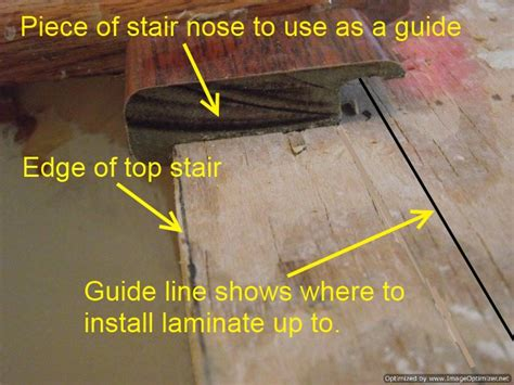 Laminate Flooring To Carpet Transition by Installing Laminate On Top Stair To Carpet