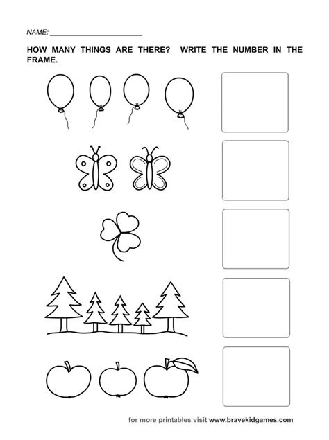 Kindergarten Counting Worksheets 1 5 Worksheets For All  Download And Share Worksheets Free