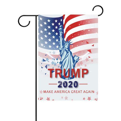 cm garden trump flag banner polyester  trump