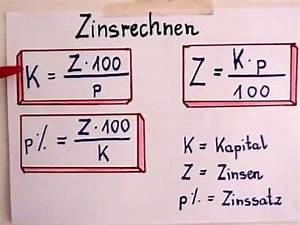 Zinsen Berechnen Tage Formel : zinsrechnung formeln youtube ~ Themetempest.com Abrechnung