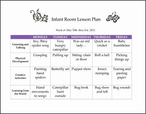 6 Creative Curriculum Preschool Lesson Plan Template