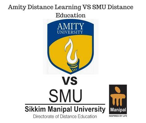 amity distance learning  smu de distance education delhi