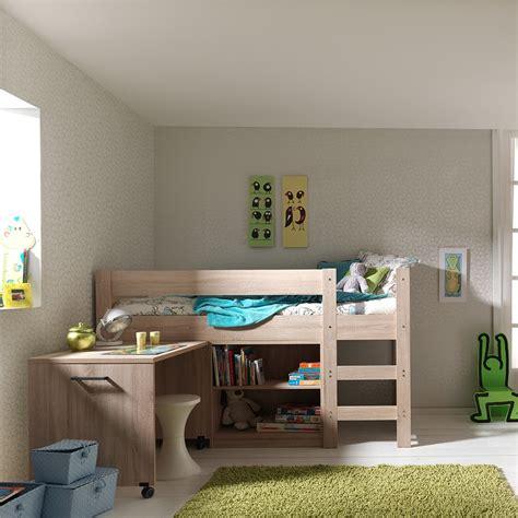 bureau surélevé lit surélevé avec bureau mundu fr