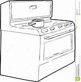 Pot Stove Gas Outline Overzicht Drawing Cooking Generische Sketch Della Profilo Sopra Coloring Clipart Enige Inductiefornuis Single Entwurfsskizze Schizzo Template sketch template