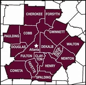 Atlanta Ga County Map afputra com