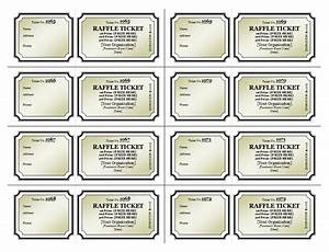 Raffle ticket template raffle tickets templates for Raffle ticket printing template