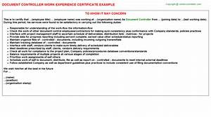 Cv template document controller gallery certificate for Document library experience