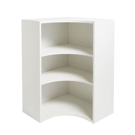 IT Kitchens White Curved Corner Tall Wall Cabinet (W)625mm