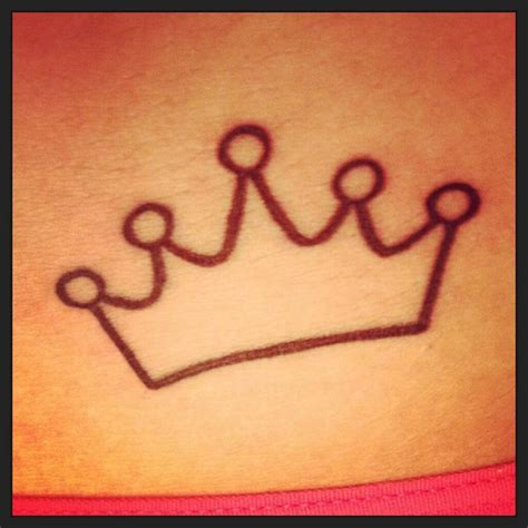 Simple Princess Crown Tattoo