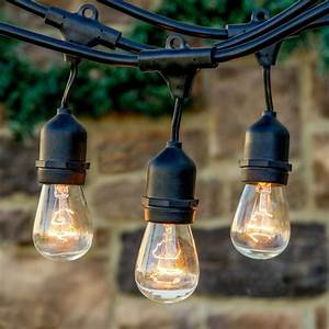 outdoor vintage style edison hanging string lights With outdoor string lights on ebay