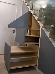 Placard Escalier : placard escalier meubles antoine mazurier ~ Carolinahurricanesstore.com Idées de Décoration