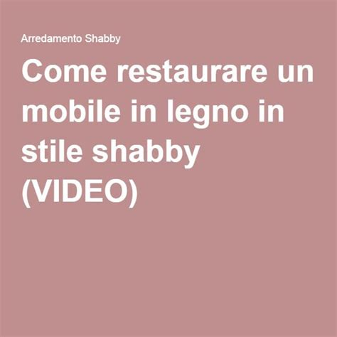 Come Restaurare Un Comodino by Come Restaurare Un Mobile Interesting Fabulous Un