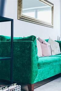 Sofa Samt Grün : unsere neue wohnzimmer einrichtung in gr n grau und rosa ~ Michelbontemps.com Haus und Dekorationen