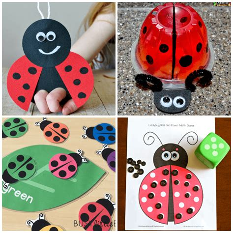 lovely ladybug crafts for preschoolers from abcs to acts 515 | Spring Preschool Activities Ladybug Crafts