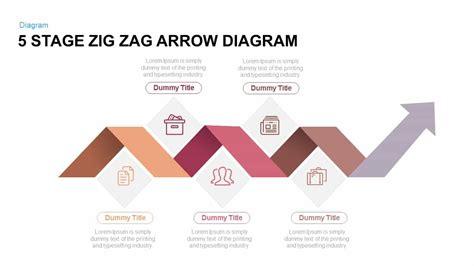 5 stage zig zag arrow diagram powerpoint and keynote template slidebazaar