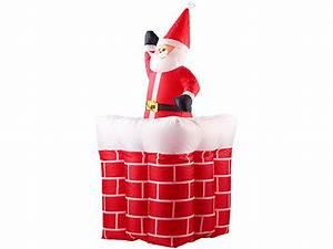 Weihnachtsmann Deko Aussen : infactory aufblasbarer xxl weihnachtsmann mit schornstein ~ Orissabook.com Haus und Dekorationen