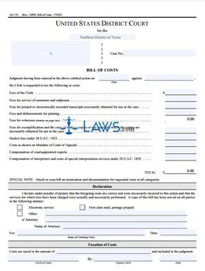 petition to seal form arkansas bill of costs texas forms laws