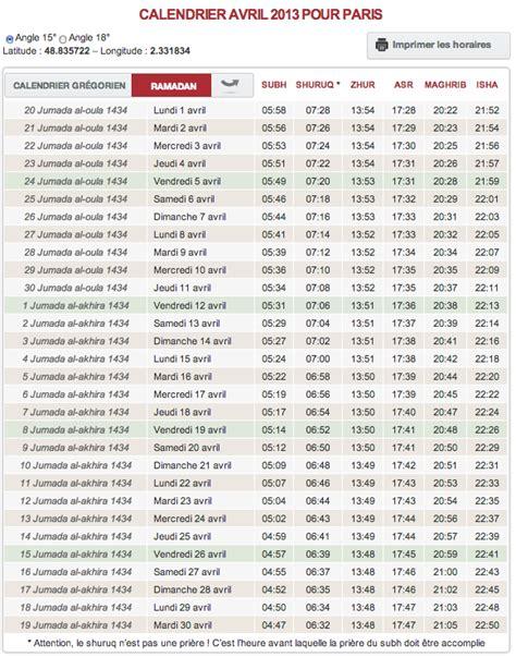 horaire de priere chelles horaire de pri 232 re t 233 l 233 chargez le calendrier du mois d avril
