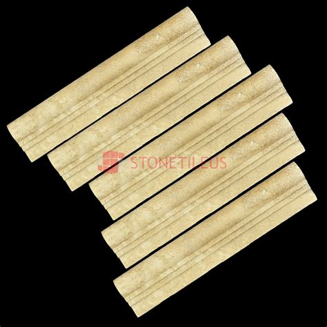 Noce Travertine Chair Rail Ogee 2 Molding  Natural Stone