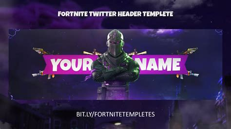 fortnite banner template design twitch yt