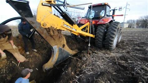 gold digger zd tile plow installing drain tile with a tile plow in minnehaha county
