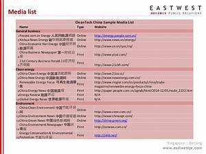 EASTWEST PR_China media landscape&CleanTech trends 2016