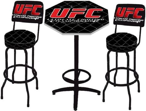 ufc ultimate fighting octagon cage pub table bar stool