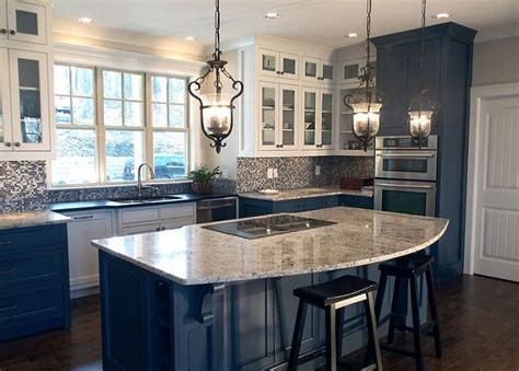 home made kitchen island like pendant lights and curve of island want the bar side 4301
