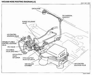 I Need All The Vacuum Hoses On The Car Engine Compartment Layout  Linking To Various Sensor