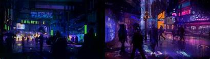 Cyberpunk Monitor Dual Screen Wallpapers Background Multiwall