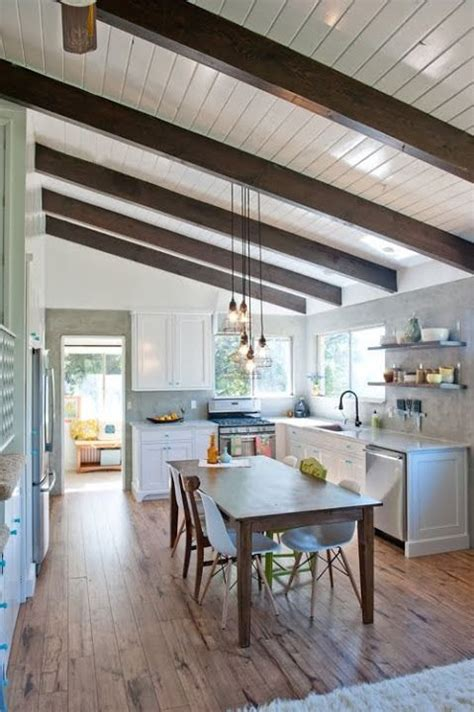 White Ceiling Beams Decorative - architectural details to add to your home faux beams