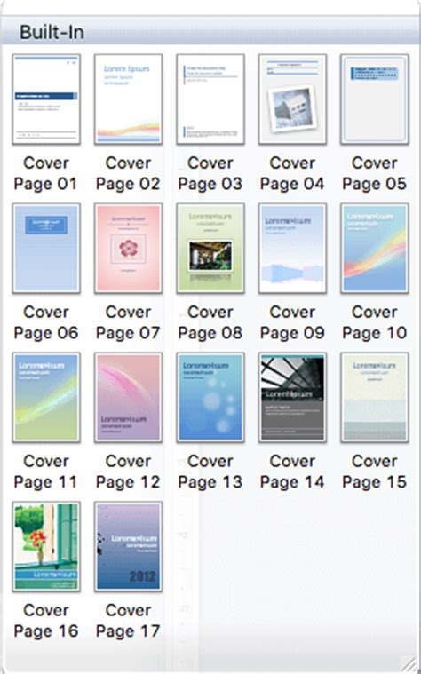 Title Page Template Word Mac by How To Insert And Save Cover Page In Microsoft Word On Mac