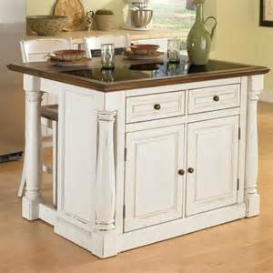 granite kitchen islands home styles monarch kitchen island set with granite top reviews wayfair