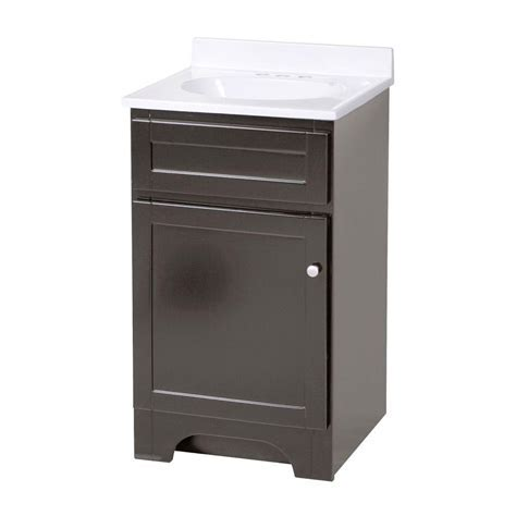 Foremost Columbia 19 in. W x 17 in. D Vanity in Espresso