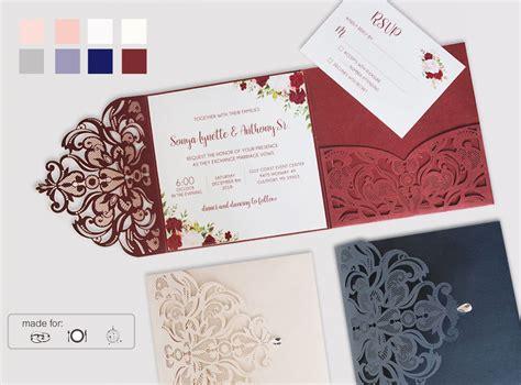 Laser Cut Wedding Invitation Suits European Lace