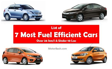 Fuel Efficient Cars by Most Fuel Efficient Cars List Of 7 Cars With Fuel