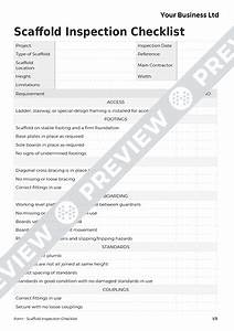 fancy hazard inspection checklist template gallery With scaffold inspection checklist free template
