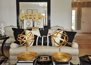 the together project living dining area With black white and gold living room ideas