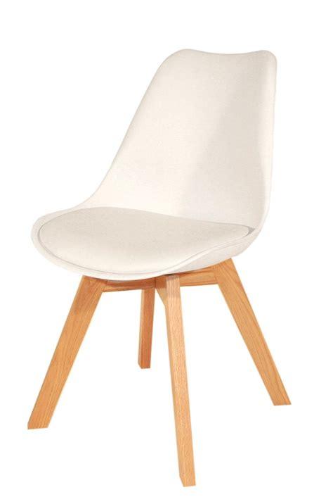 chaise blanche pied en bois chaise blanche et pied bois idées de décoration