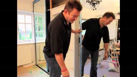 sliding mirror wardrobe door installation youtube