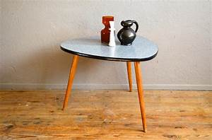 table gueridon tripode pietement compas plateau formica With table tripode annees 50