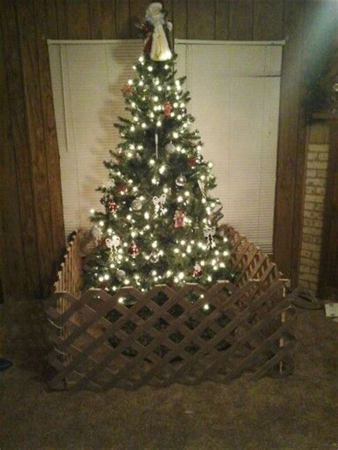 christmas tree fence for dogs toddler proof your tree i would decorate the fence with ribbons tying the corners