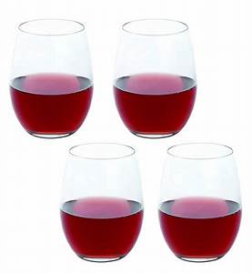 Set, Of, 4, Stemless, Red, Wine, Glasses, By, Dartington, Crystal