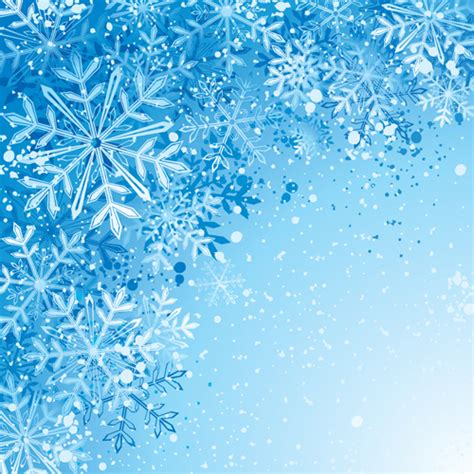 Blue Snowflake Background Clipart by Free Snowflake Background Vector Free Vector